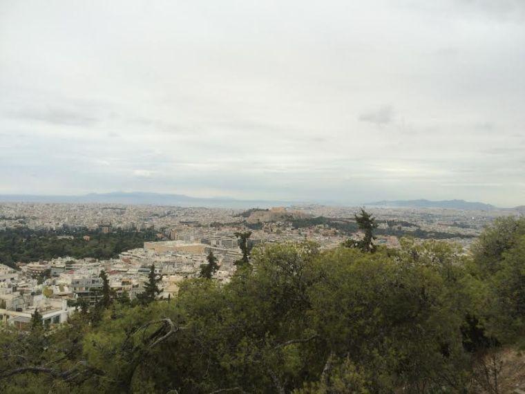 Mont Lycabette Athènes spot sunset