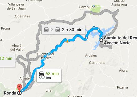 Itinéraire Caminito del rey Ronda