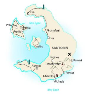 Carte Santorin