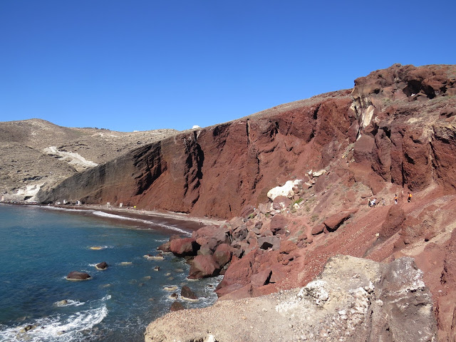 Red beach Santorin plages