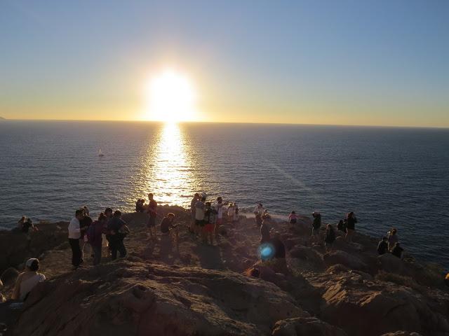 Sport sunset Faros santorin