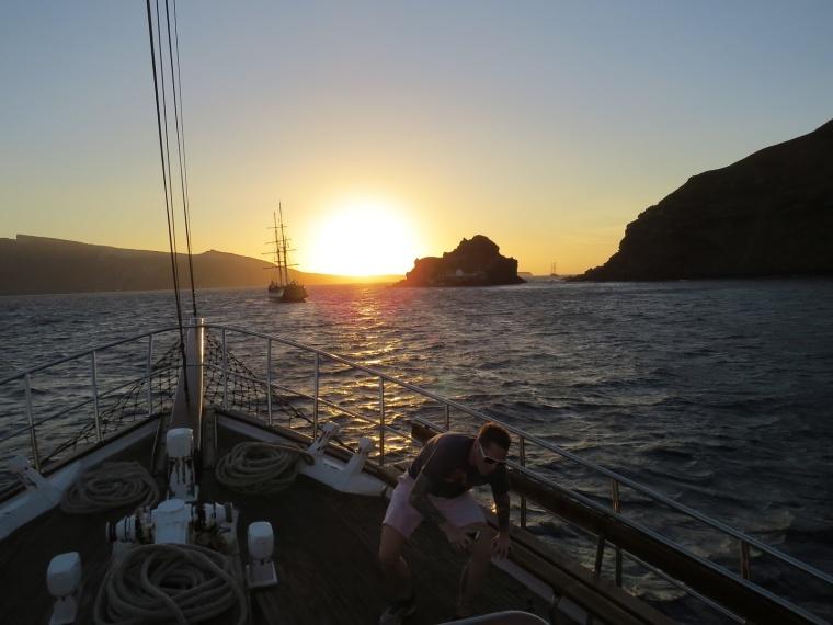 Santorin coucher de soleil mer