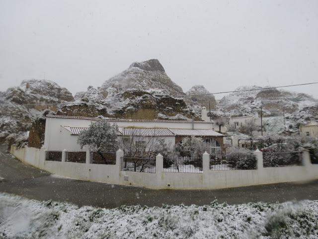 Guadix Andalousie sous la neige