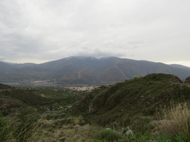 Vue sur Orgiva Alpujarras Andalousie