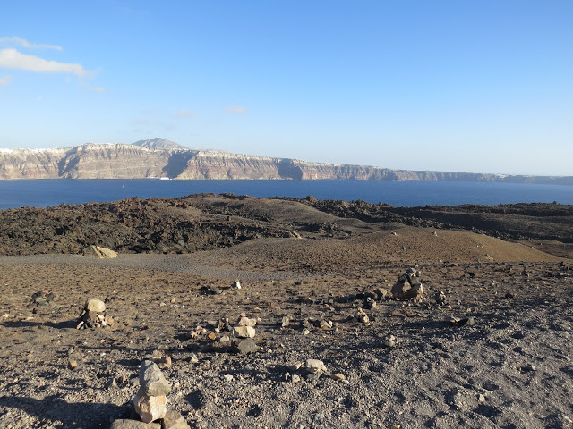 Vue santorin depuis cratère