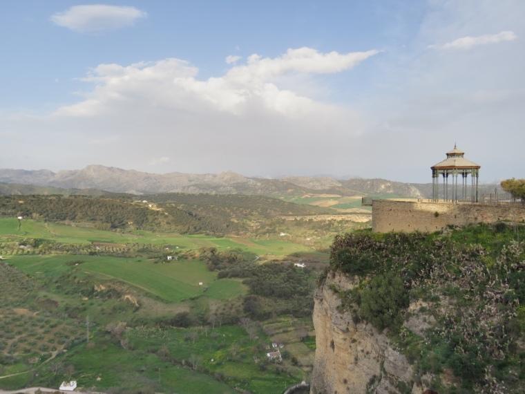 Vue depuis ville de Ronda Andalousie