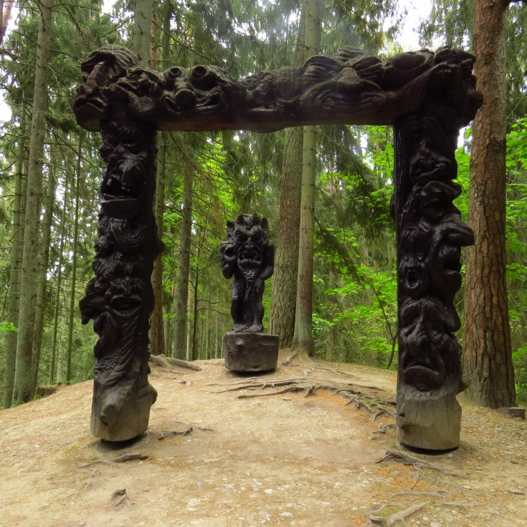 Juodkranté Neringa Lituanie la colline des sorcières