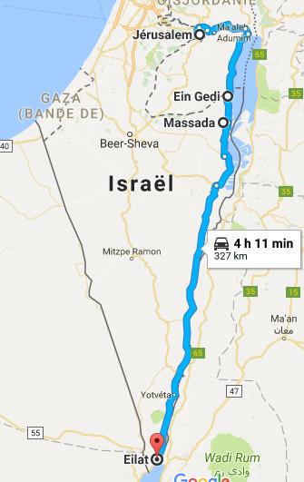 Jérusalem à Eilat Itinéraire désert