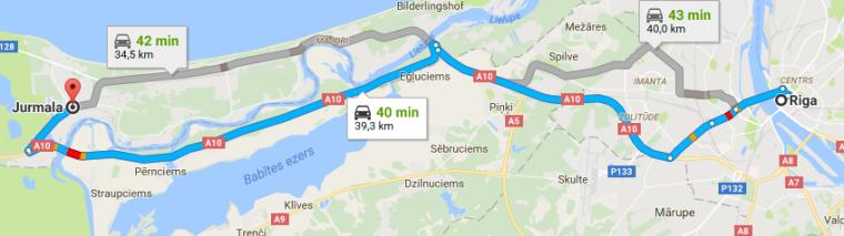 Riga Jurmala Itinéraire