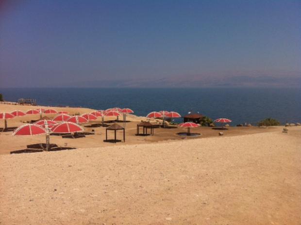 Mer morte plage Israel