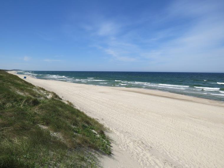 Plages baltiques sable blanc Isthme de Courlande