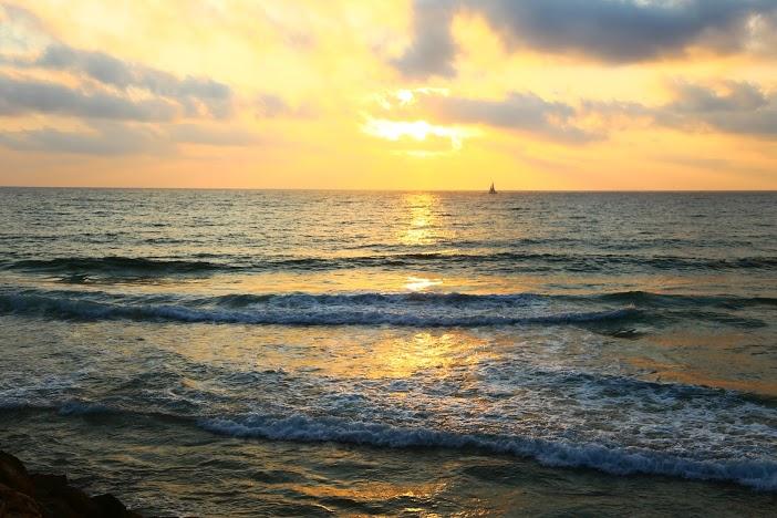 coucher de soleil plage Tel Aviv