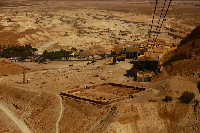 Fort de Massada Israel désert