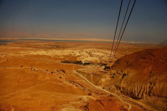 Vue depuis le fort de massada Israel