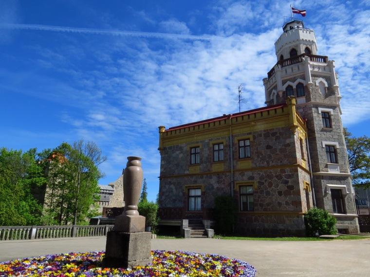 château neuf de Sigulda Lettonie