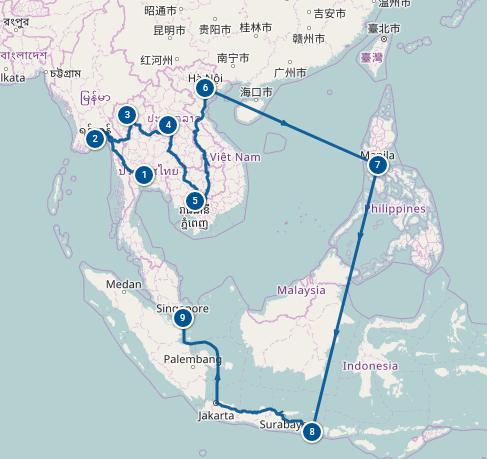 Itinéraire 6 mois en Asie du Sud Est