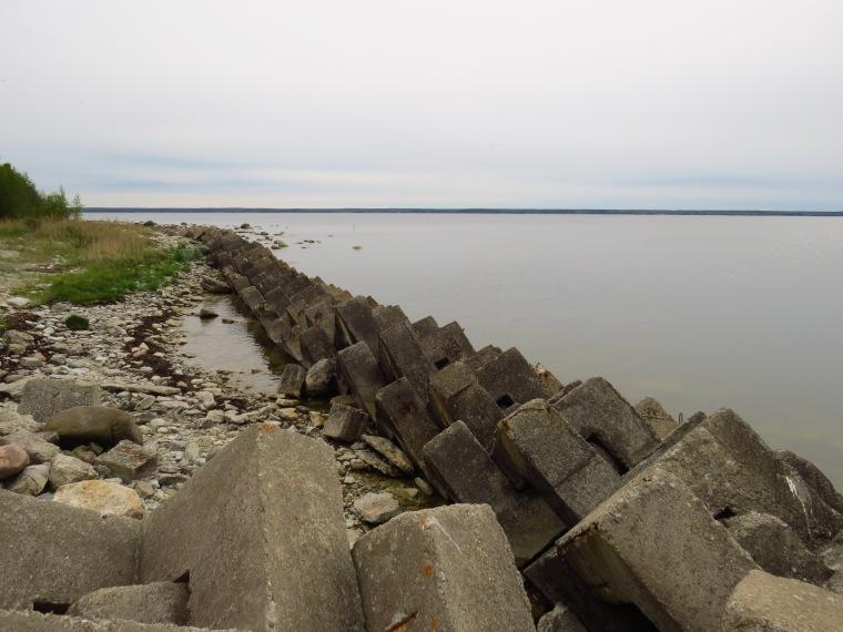 Vestiges soviétiques baie de Viniistu.