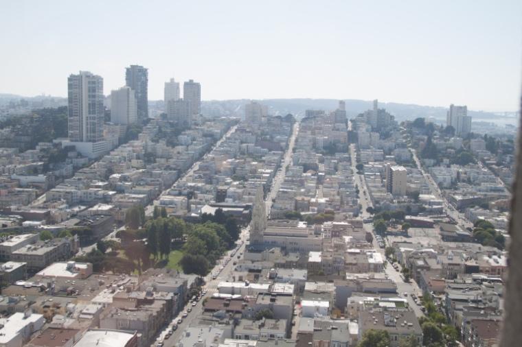 Vue sur San Francisco depuis Coit Tower