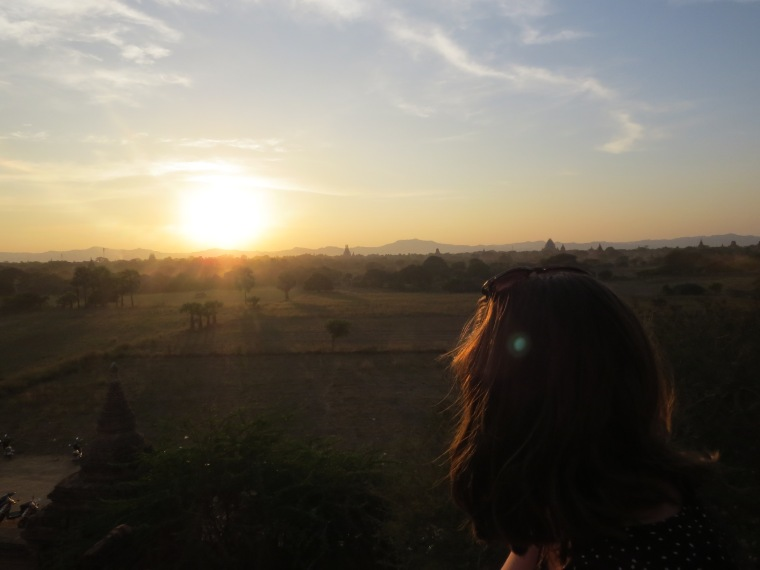 Spot sunset Bagan