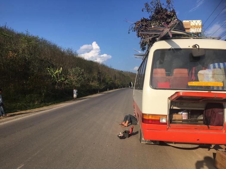 Bus de la frontière Laos à Luang Namtha