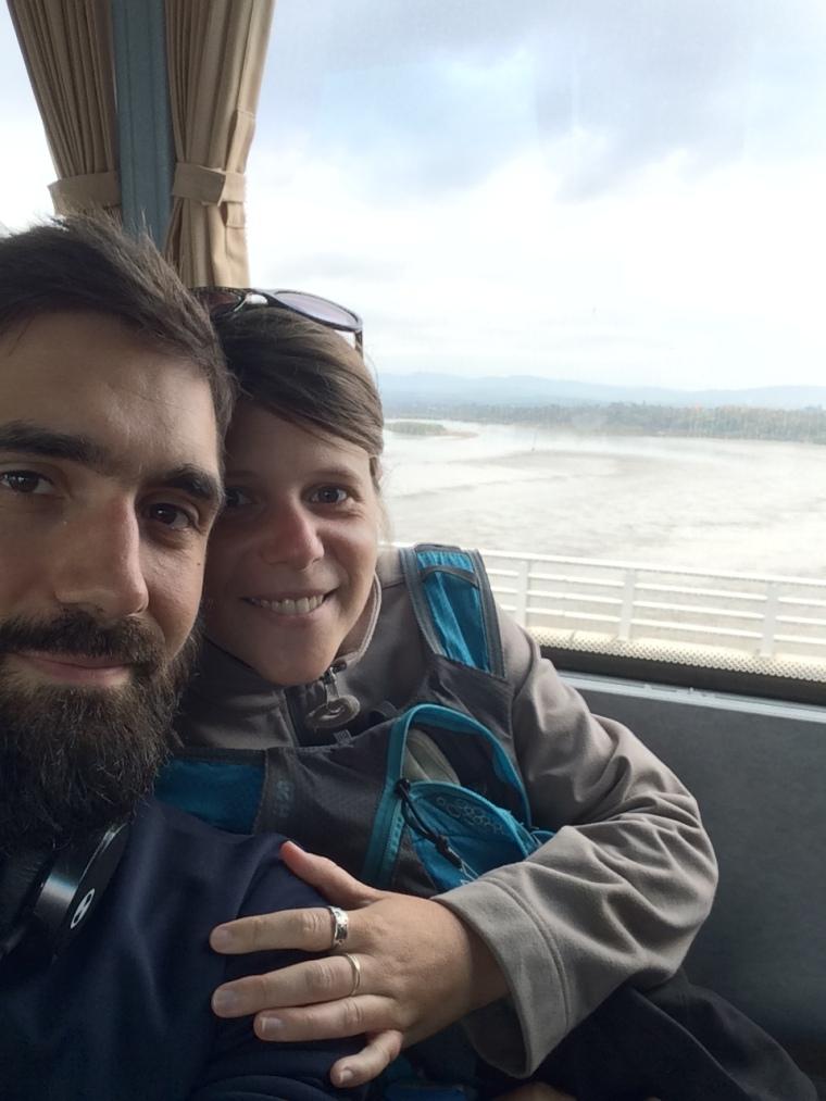 Pont de l'amitié Myanmar Thailande en bus