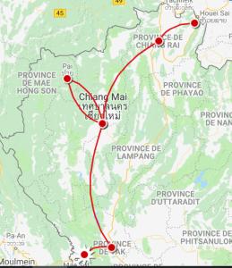 Itinéraire Thailande nord 10 jours