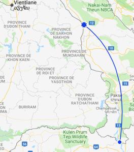 Comment aller de Thakek aux 4000 îles