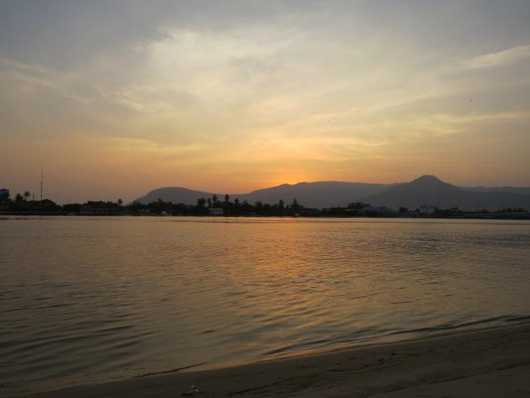 Coucher soleil Kampot