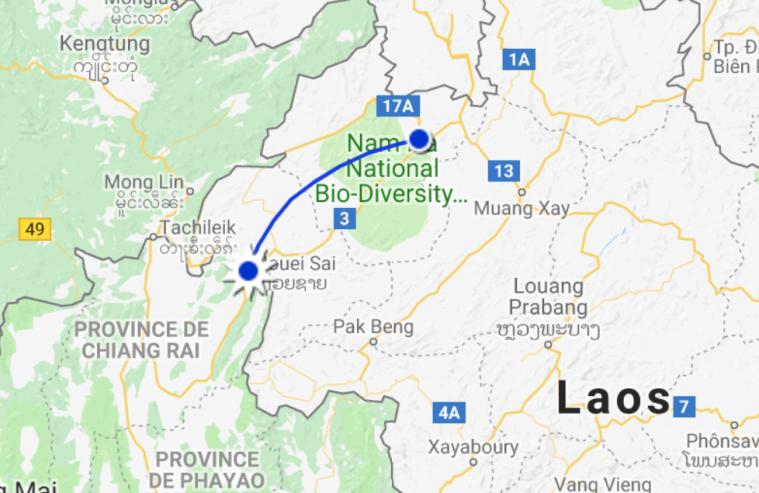 De Huay Xai à Nuang Lamtha en bus