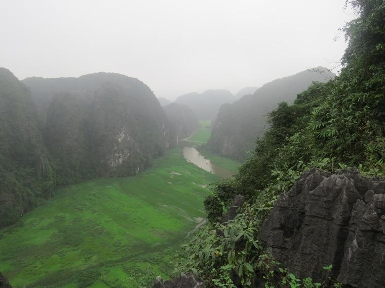 Hang Mua point de vue Baie Halong terrestre