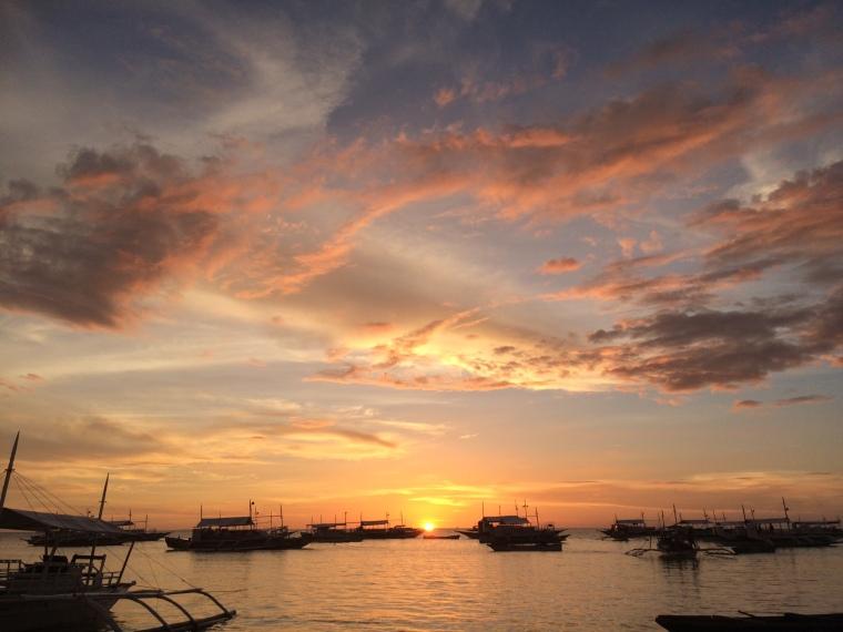Plage Malapascua sunset