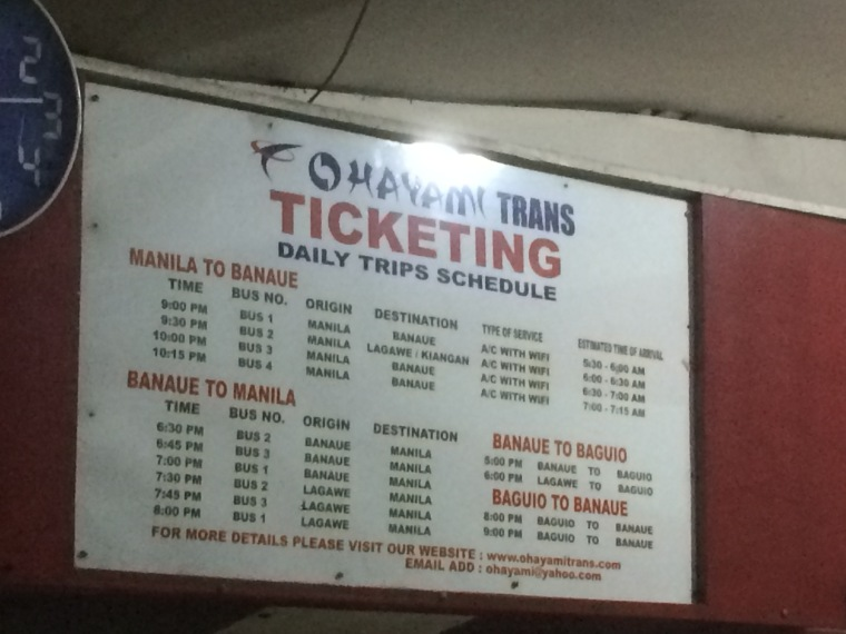 horaires bus Ohayami