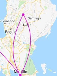 Banaue Manille itinéraire