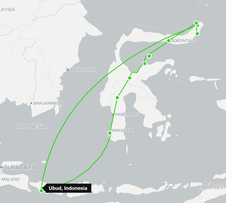 Itinéraire Bali Sulawesi