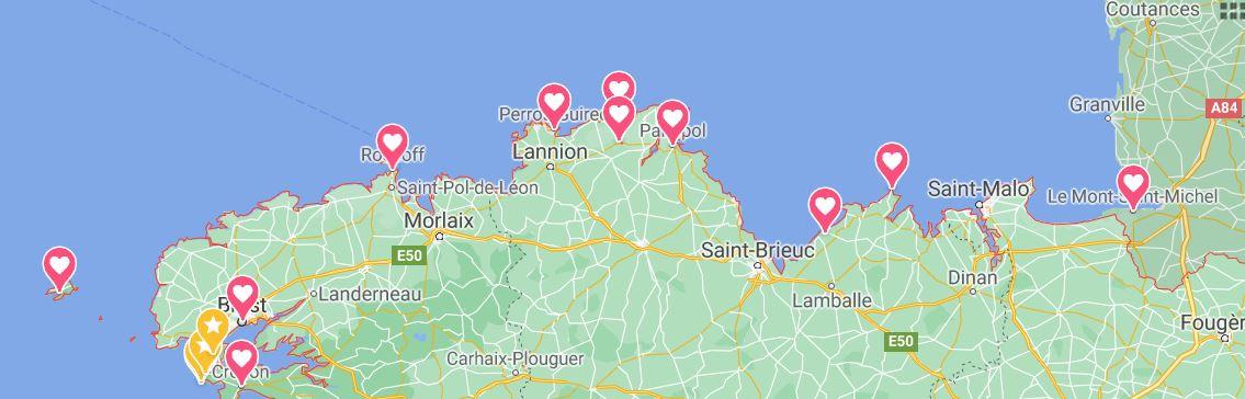 Itinéraire 14 jours Bretagne